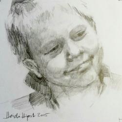 Mini pencil portrait