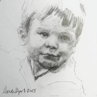 Mini pencil portrait by Heidi Hjort |heidihjort.com
