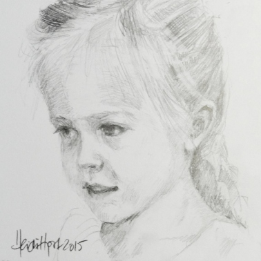 Mini pencil portrait Heidi Hjort |heidihjort.com