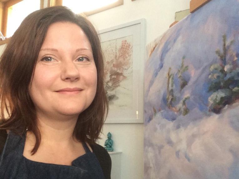 Heidi Hjort in her studio
